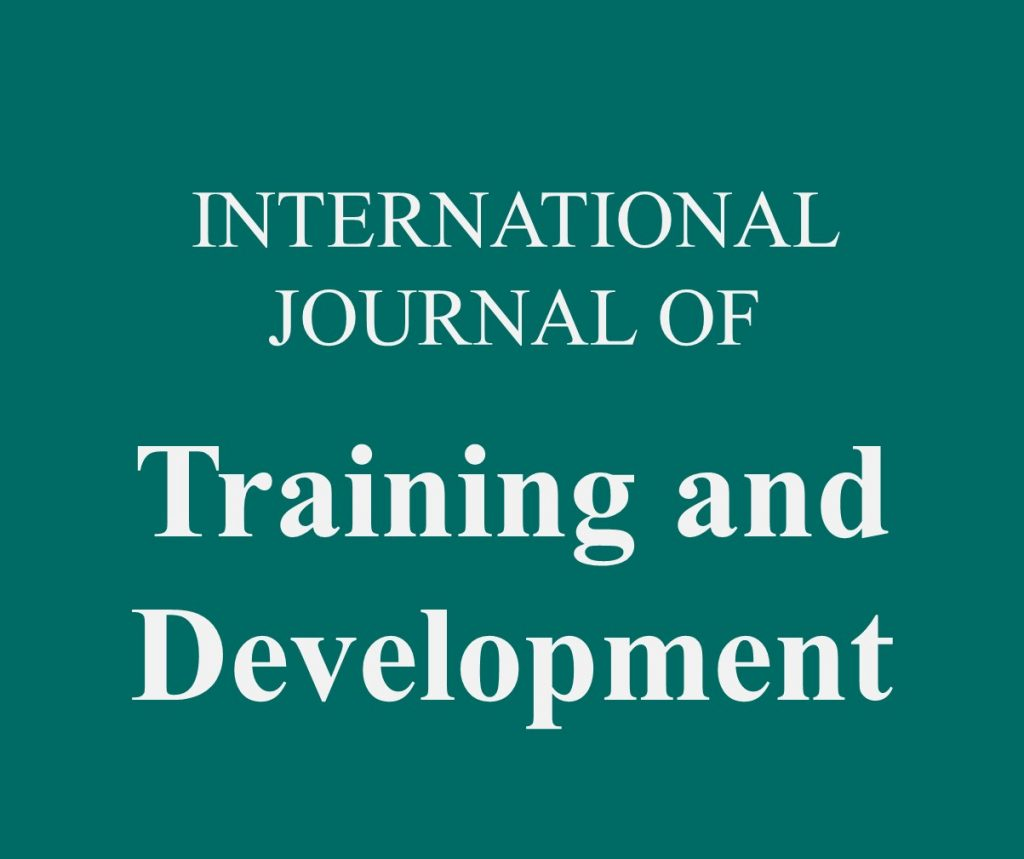 training and development journal pdf