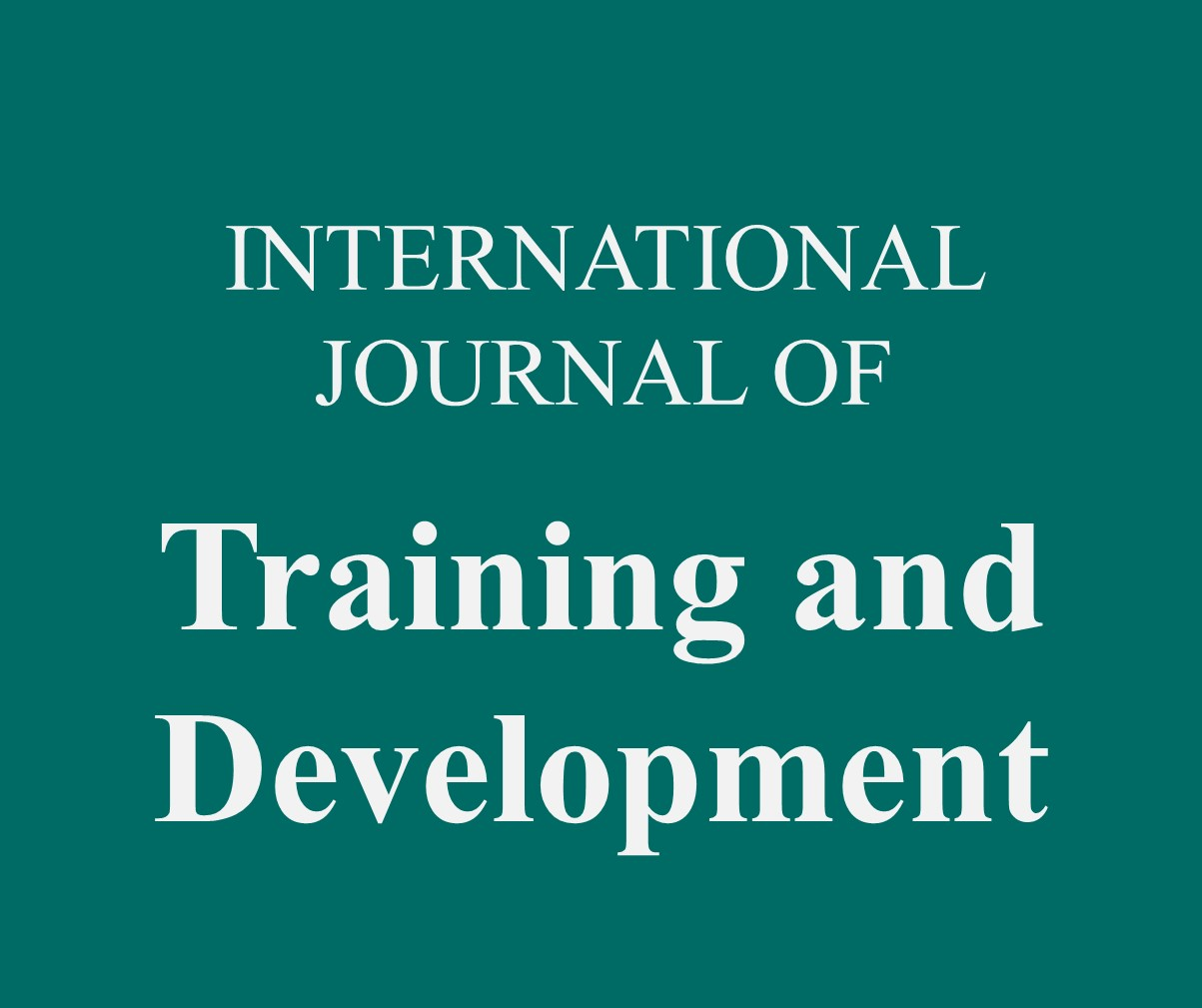 International Journal of Training and Development